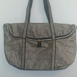 Victoria secret gold sparkle bag